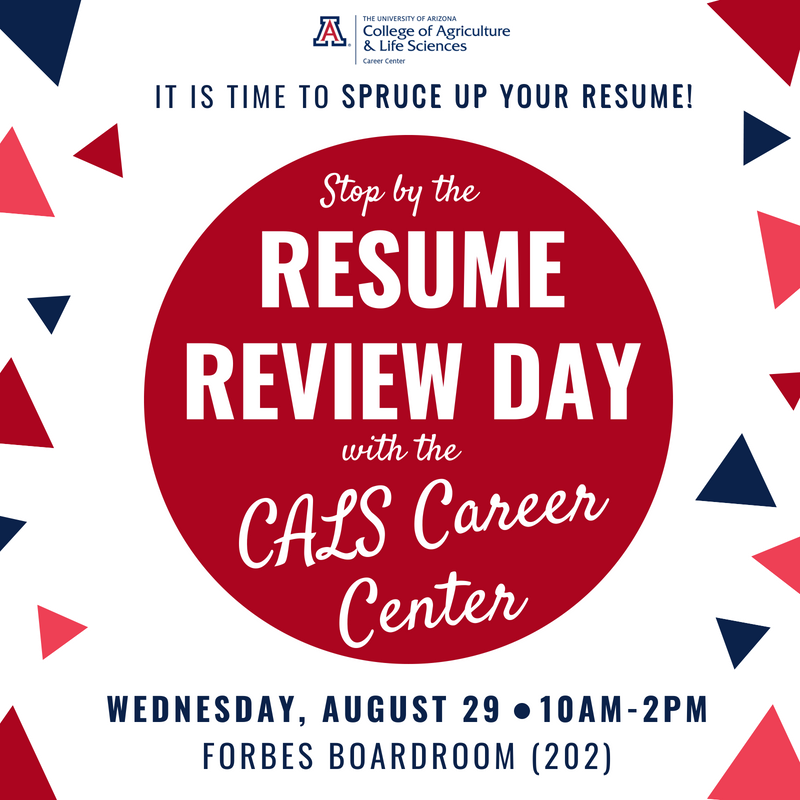 Resume Review Day Cals Career Center College Of Agriculture And