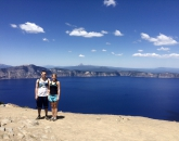 Kristy and boyfriend Connor at Crater Lake in Oregon. Photo Credit: Kristy Gilman