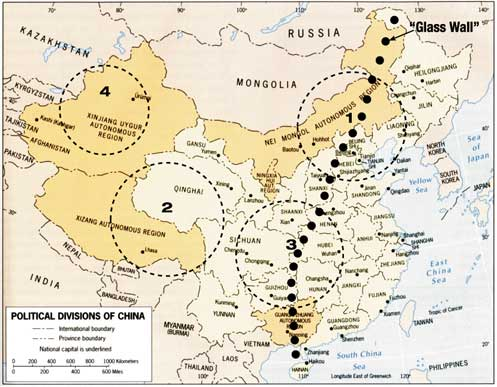 Deserts Of China Map on