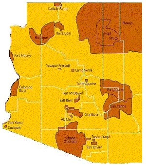 Map Of Arizona Indian Communities - Indian nation map us