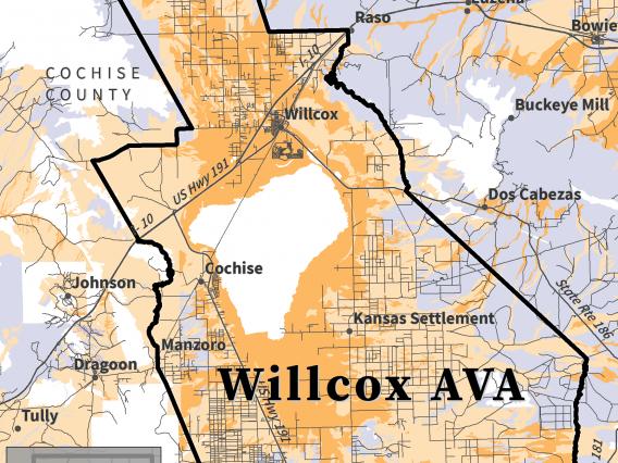 map of soil pH for Willcox AVA