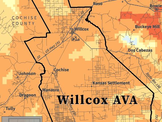 Winkler Index map for Willcox AVA