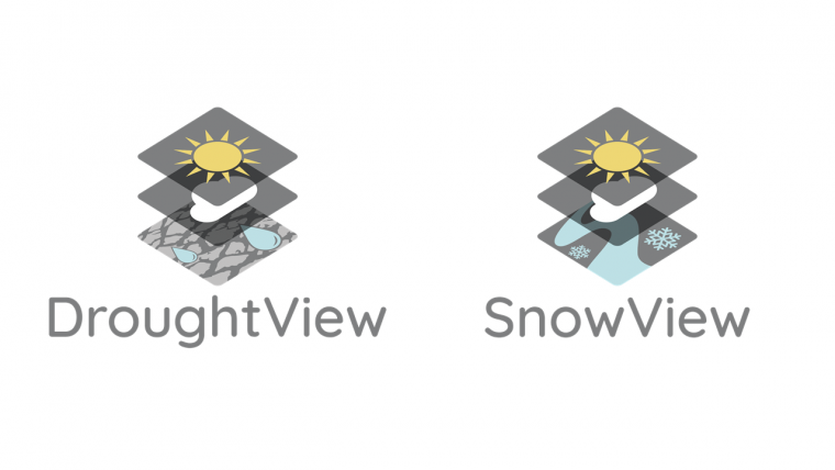 DroughtView and SnowView logos