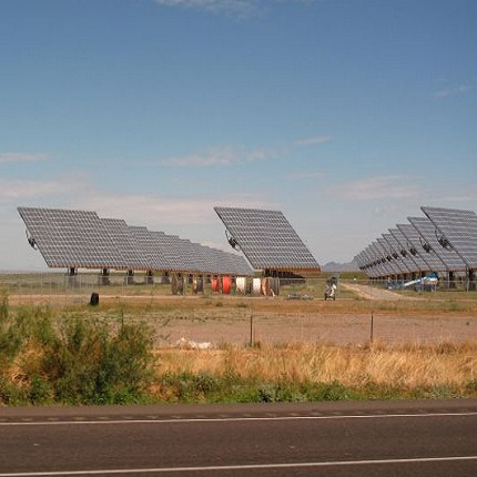 Solar installation in New Mexico. (Photo by Mark Apel)