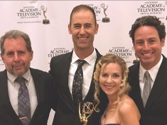 From left: Dave Bogner, Cody Sheehy, Jatta Sheehy, and Matt Rahr at the Rocky Mountain Emmys.