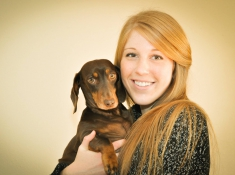 Kristy and her pup Cooper. Photo Credit: Kristy Gilman