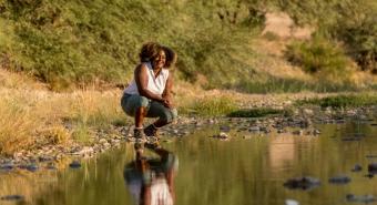 Earyn McGee by river