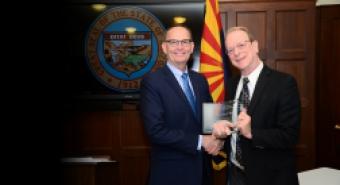 Under Secretary Greg Ibach and Bruce Tabashnik