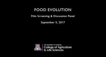 "Embedded thumbnail for ""Food Evolution"" Discussion Panel"