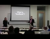Marisela Celaya and Dustin Green presenting Career Conversation Workshop