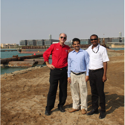 Kevin Fitzsimmons (left) with Aftab Alam (middle) and Ali Madi Idris (right) during a 2012 visit to the King Abdullah University of Science and Technology in Saudi Arabia.