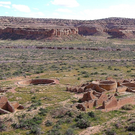 Chetro Ketl, built during the 10th and 11th centuries, is one of the largest great houses in Chaco Canyon, New Mexico. Despite the harsh, high-desert environment, thousands of people once lived in and around what is now a World Heritage Site at Chaco Culture National Historical Park. (Photo: National Park Service)