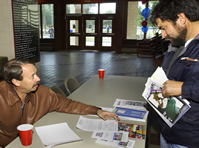 Dr. Poe advising students at an Arizona Western College college recruitment event.