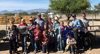 Pima County 4-H members in a group photo