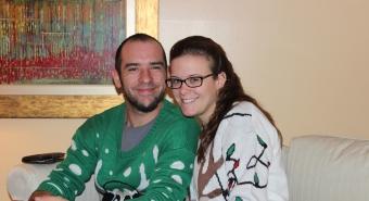 Caroline Geisler and her husband. Photo Credit: Caroline Geisler